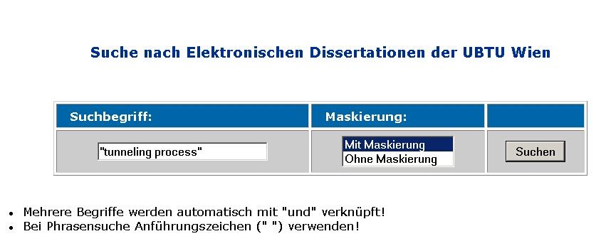 dissertation tu wien online